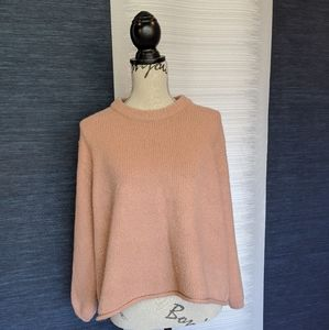 World Market Chunky Sweater Pink OS